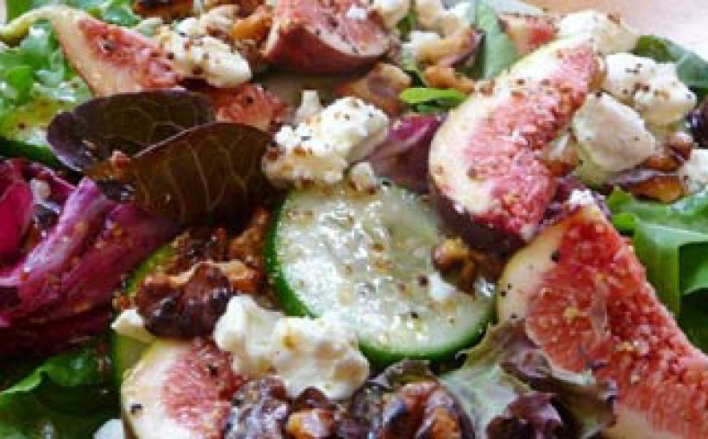 Fresh Fig & Toasted Walnut Salad