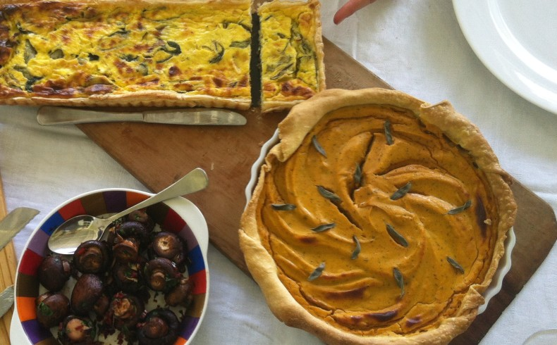 Sweet potatoe and sage tart