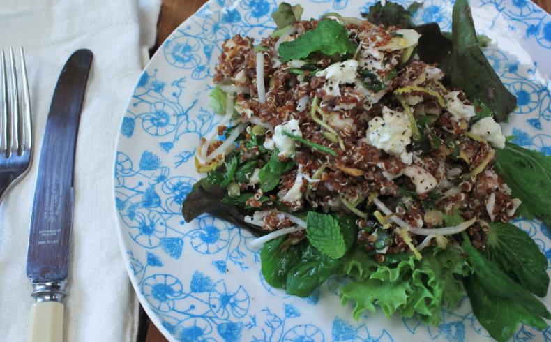 Goat Feta & Toasted Almond Quinoa Salad