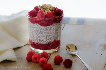 Raspberry Chia Coconut Pudding