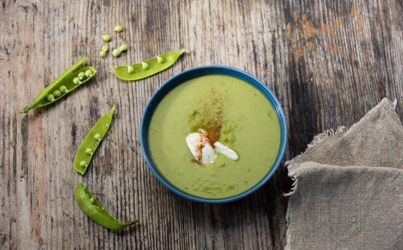 Fresh Garden Pea Soup
