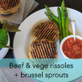 Beef and vege rissoles
