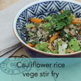 Cauli flower rice vege stir fry