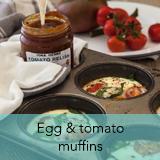 Egg & tomato muffins
