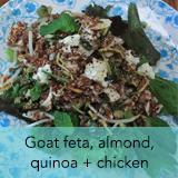 Goat feta, almond, quinoa, chicken salad
