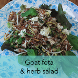 Goat feta & herb salad
