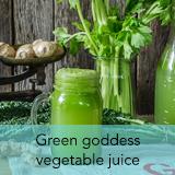 Green goddess vegetable juice