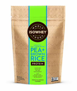 IsoWhey Wholefoods Organic Bio-fermented Pea + Brown Rice Protein Powder