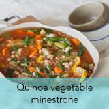 Quinoa vegetable minestrone