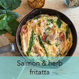 Salmon herb fritatta