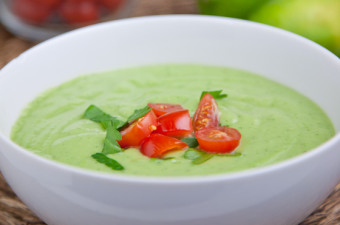 Spicy Chilled Avocado Soup