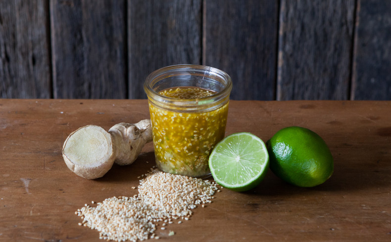 Toasted Sesame Ginger & Lime Dressing