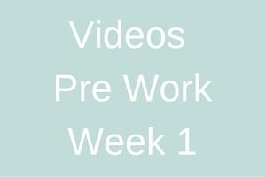 Videos Pre work - week 1