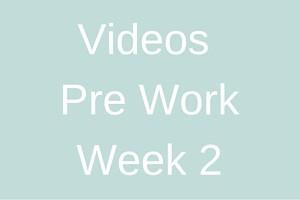 Videos Pre work - week 2