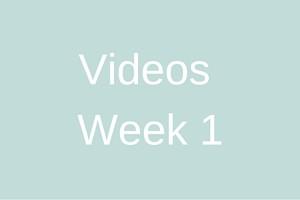 Videos - Week 1