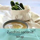Zucchini coconut soup