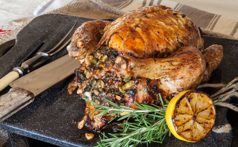Roast Chicken With FresH Fig and Nut Stuffing